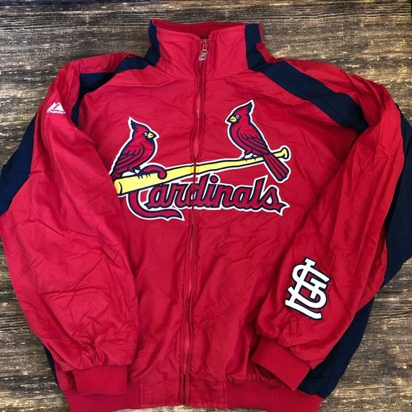 more photos e72f8 efb4c Authentic Majestic St. Louis Cardinals Jacket